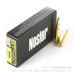 20 Rounds of .308 Win Ammo by Nosler Ammunition - 125gr Nosler Ballistic Tip