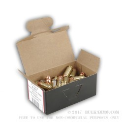 50 Rounds of .40 S&W Ammo by BVAC - 165gr CPHP