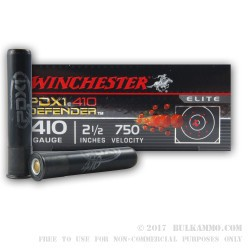 10 Rounds of .410 PDX1 Ammo by Winchester -  3 Defense Discs over 12 Plated Shot