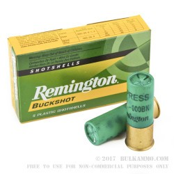 5 Rounds of 12ga Ammo by Remington Express -  000 Buck