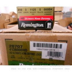 """15 Rounds of .410 3"""" Ammo by Remington -  000 Buck"""