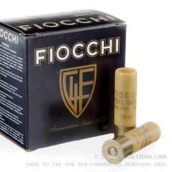 25 Rounds of 20ga Low Recoil Ammo by Fiocchi - 7/8 ounce #7 Shot (Steel)