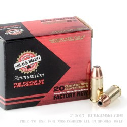 20 Rounds of 9mm Luger Ammo by Black Hills Ammunition - 115gr JHP