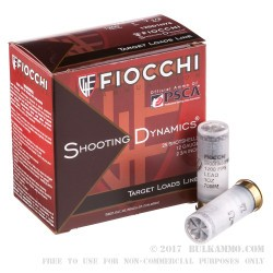 25 Rounds of 12ga Ammo by Fiocchi - 1 ounce #7 1/2 shot