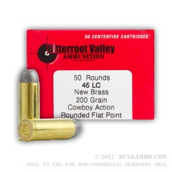 400 Rounds of .45 Long-Colt Ammo by BVAC - 200gr LRNFP