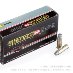 50 Rounds of .44 Mag Ammo by Ultramax - 240gr LSWC