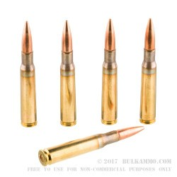 10 Rounds of 50 Cal BMG Ammo Made by PMC - 660 gr FMJBT