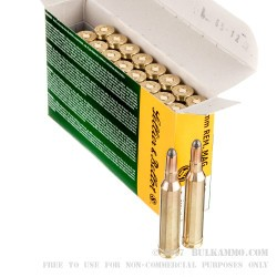 20 Rounds of 7mm Rem Mag Ammo by Sellier & Bellot - 140gr SP