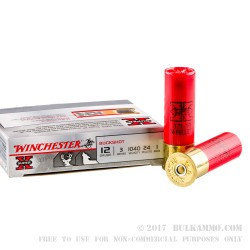 "5 Rounds of 12ga 3"" Ammo by Winchester -  #1 Buck"