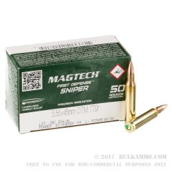 50 Rounds of 5.56x45 Ammo by CBC - 77gr OTM