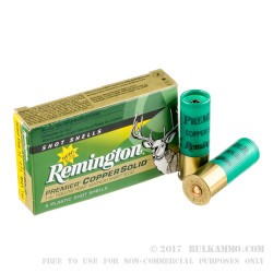 100 Rounds of 12ga Ammo by Remington - 1 ounce Copper Solid Sabot Slug