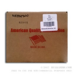 500  Rounds of 5.56x45 Ammo by American Quality Ammunition - 62gr FMJ