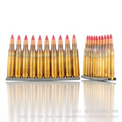 120 Rounds of 5.56x45 Ammo by Lake City in Bandolier - 55gr Tracer (M196)