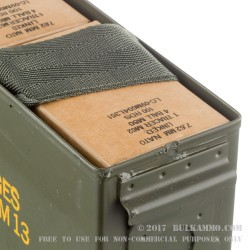200 Rounds of 7.62x51mm NATO Ammo by Lake City - M80 147gr FMJ & 142gr M62 Tracer Linked in Ammo Can
