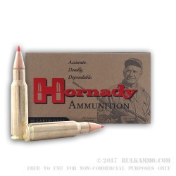 200 Rounds of 6.8 SPC Ammo by Hornady - 120gr SST