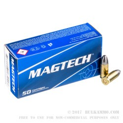 50 Rounds of 9mm Ammo by Magtech - 124gr LRN