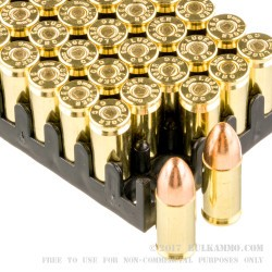 50 Rounds of 9mm Ammo by Magtech - 124gr FMJ
