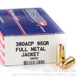 50 Rounds of .380 ACP Ammo by Ultramax Remanufactured - 95gr FMJ