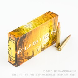 20 Rounds of 30-06 Springfield Ammo by Federal - 180gr Fusion
