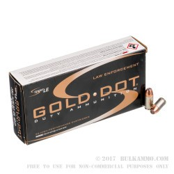 50 Rounds of .380 ACP Ammo by Speer LE - 90gr JHP
