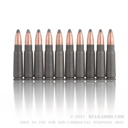 500  Rounds of 7.62x39mm Ammo by Brown Bear - 125gr SP