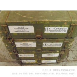 1260 Rounds of 7.62x39mm Ammo by Yugoslavian Surplus - 124gr FMJ