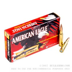 200 Rounds of 7.62x51mm Ammo by Federal - 168gr OTM
