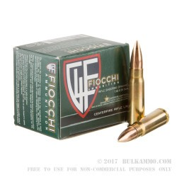 20 Rounds of 7.62x39mm Ammo by Fiocchi - 124gr FMJ
