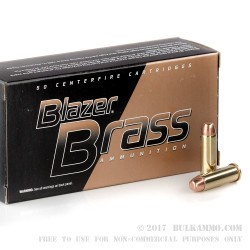 50 Rounds of .38 Spl Ammo by Blazer Brass - 125gr FMJ