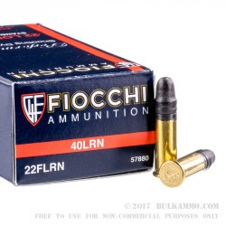 500  Rounds of .22 LR Ammo by Fiocchi - 40gr LRN
