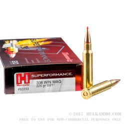 20 Rounds of .338 Win Mag Ammo by Hornady - 225gr SST