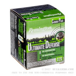 10 Rounds of 45 Long Colt & 10 rounds of .410 Ammo by Remington Ultimate Defense - 230gr JHP & 000 Buck