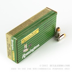 50 Rounds of .40 S&W Ammo by Remington - 165gr JHP
