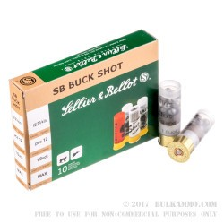 250 Rounds of 12ga Ammo by Sellier & Bellot - 1 1/8 ounce #1 Buck