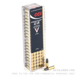 500 Rounds of .22 LR Standard Velocity Ammo by CCI - 40gr LRN