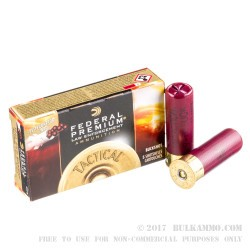 "250 Rounds of 2-3/4"" 12ga Ammo by Federal LE - 00 Buck"