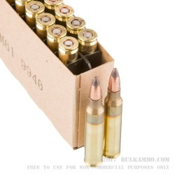 20 Rounds of 5.56x45 Ammo by Winchester - 50 gr Frangible