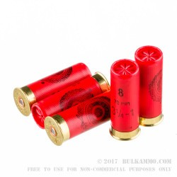 25 Rounds of 12ga Ammo by Estate Cartridge - 1 ounce #8 shot