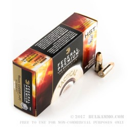 50 Rounds of 9mm +P Ammo by Federal LE - 147gr JHP HST