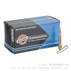 50 Rounds of .223 Ammo by Black Hills Remanufactered Ammunition - 69gr Sierra MatchKing OTM
