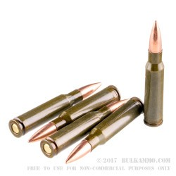 20 Rounds of .308 Win Ammo by Brown Bear - 145gr FMJ