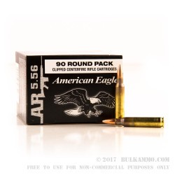90 Rounds of 5.56x45 Ammo by Federal - 55gr FMJBT
