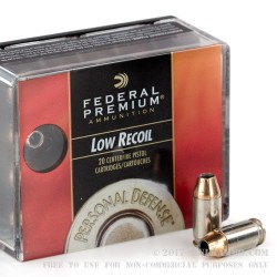 20 Rounds of .380 ACP Ammo by Federal - 90gr JHP