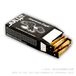 30 Rounds of XM193 5.56x45 Ammo by Federal - 55gr FMJBT on Stripper Clips