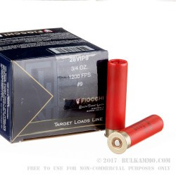 25 Rounds of 28ga Ammo by Fiocchi -  #9 shot