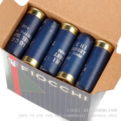 250 Rounds of 12ga Low Recoil Ammo by Fiocchi - 1 ounce #7 Shot (Steel)
