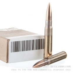15 Rounds of 8mm Mauser Ammo - Yugo Military Surplus - 196gr FMJ M-49