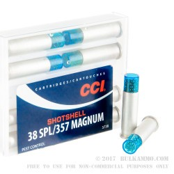 10 Rounds of .38 Spl Ammo by CCI - 100gr #9 shot
