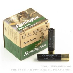 20 Rounds of .410 Ammo by Remington - 1/2 ounce #6 shot