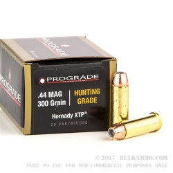 20 Rounds of .44 Mag Ammo by ProGrade Ammunition - 300 gr JHP